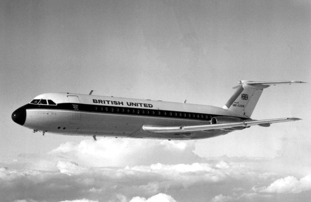 BUA - British United Airlines BAC 1-11 G-ASHG taken on the 4 October 1963
