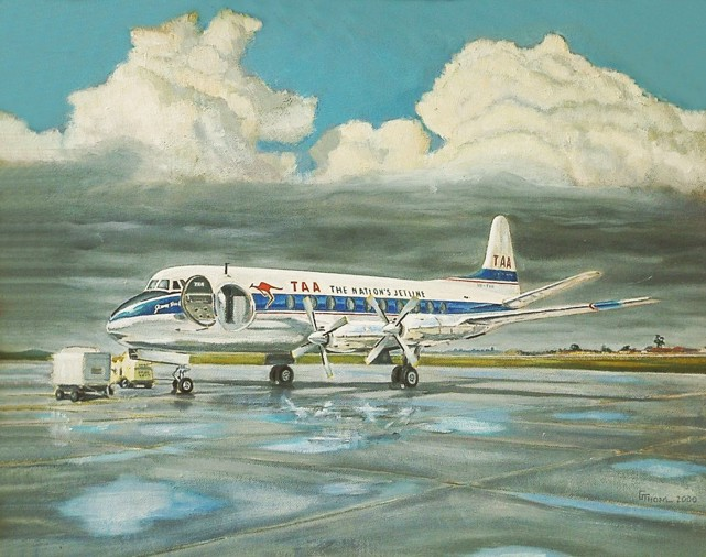 TAA - Trans-Australia Airlines V.756D series Viscount VH-TVH by Greg Thom