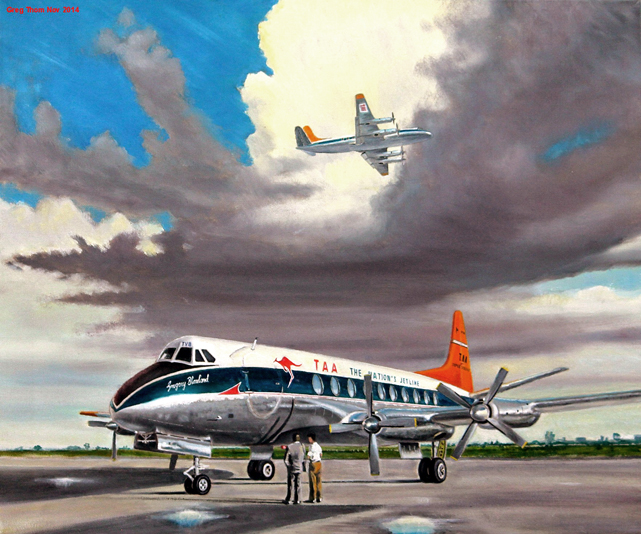 TAA - Trans-Australia Airlines V.720 series Viscount VH-TVB by Greg Thom