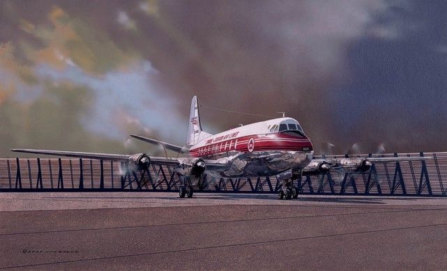 Jim Bruce's painting of Viscount CF-TGQ