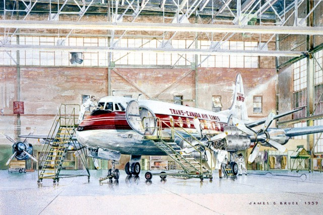 Jim Bruce's painting of Viscount CF-TGT