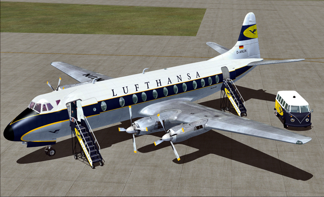 Lufthansa Simulator Viscount