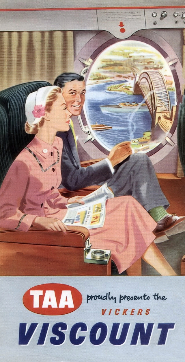 TAA - Trans Australia Airlines published this brochure in 1954 to anounce the arrival of Viscounts in Australia.....