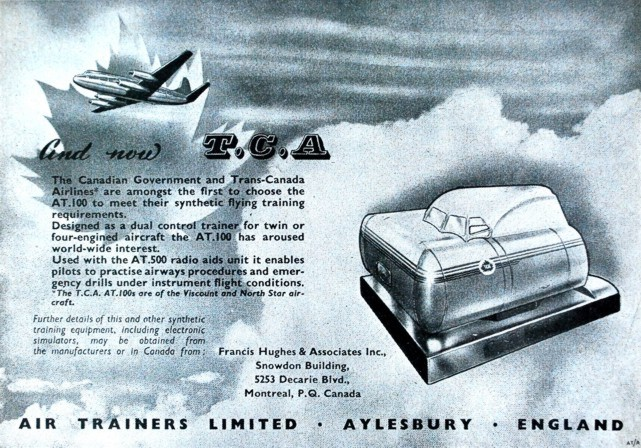 TCA - Trans-Canada Air Lines syntetic flying training advert