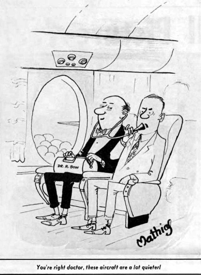 Dave Mathias TCA - Trans-Canada Air Lines cartoon