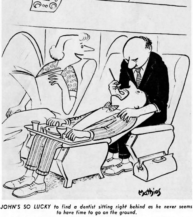 TCA - Trans-Canada Air Lines cartoon of August 1957