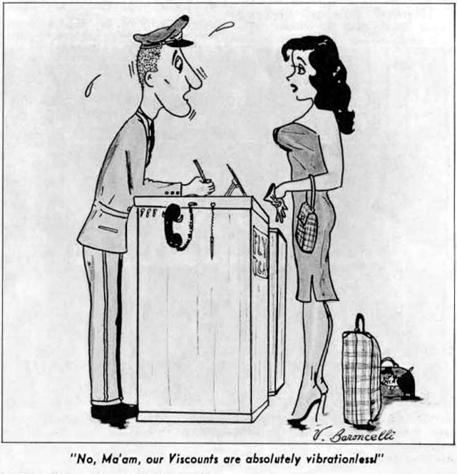 TCA - Trans-Canada Air Lines cartoon of November 1957