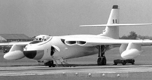 The four-jet Vickers Valiant bomber