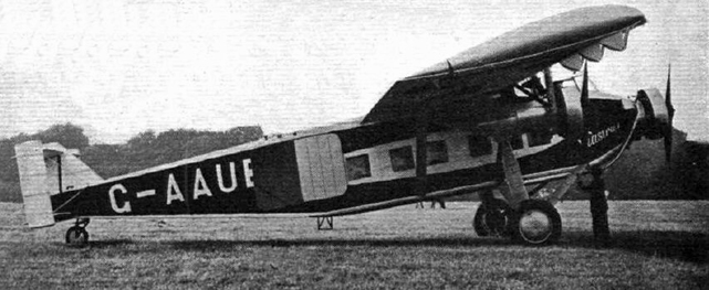 The first Vickers Viastra G-AAUB, a 12-passenger monoplane of 1930