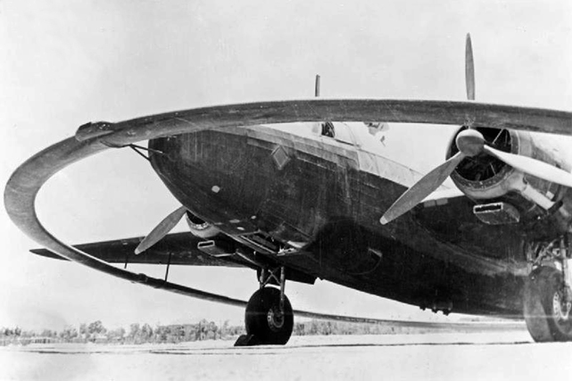A Vickers Wellington fitted with a 48ft-diameter, electrically charged, magnetic coil
