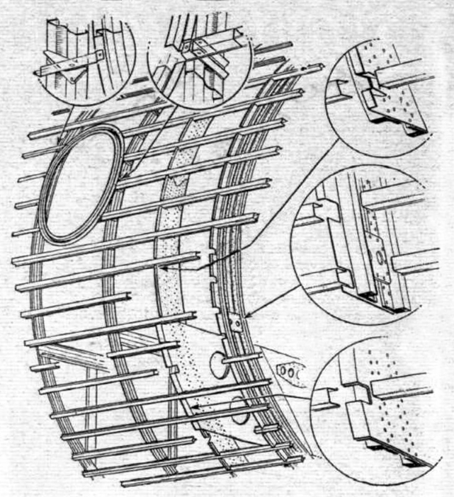 Structural details of the Viscount fuselage. Of particular interest is the window-frame construction.