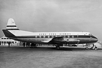 Photo of Viscount c/n 186 which was built for BOAC Associated Companies as VR-HFI