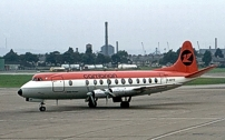 Painted in the Cambrian Airways 'Orange' livery.
