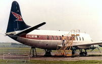 The Cambrian Airways markings had gradually faded away so work started to repaint it in its original British European Airways (BEA) livery.