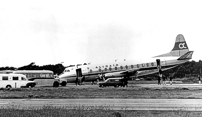 Damaged during a landing at Guernsey Airport, Channel Islands.