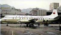 Photo of Viscount c/n 452 which was built for CAAC - Civil Aviation Administration of China as 404