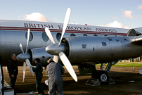 The paintwork on the propellers suffered from being outside with bare metal beginning to show through.