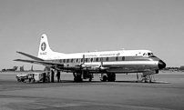 Painted in the final New Zealand National Airways Corporation (NAC) Viscount livery.