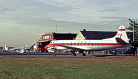Withdrawn from service and stored at Uplands Airport, Ottawa, Ontario, Canada due to a cracked wing spar cap.