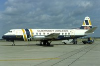 Photo of Guernsey Airlines Viscount G-AOYI * c/n 257 December 1983